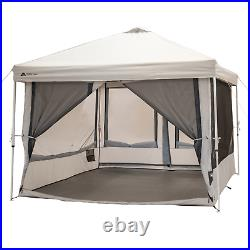 Connect Tent Canopy Outdoor Screen House With 2 Doors Camping Travel Trail 7Person