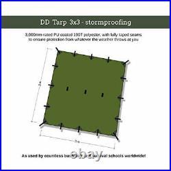 DD Tarp 3x3 Olive Green 10ft x 10ft