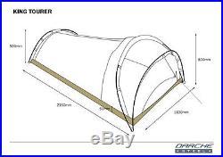 Darche King Tourer XL Single Dome Canvas Swag Khaki