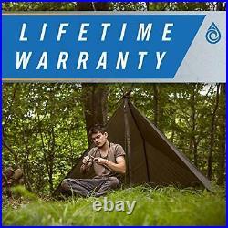 Defender Tarp, 100% Waterproof Heavy Duty Nylon Survival Shelter Camo/Olive Drab