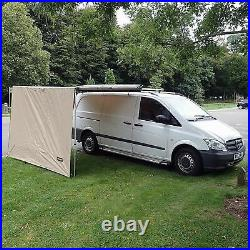 Direct4x4 Expedition Pullout Awning 2.5mx2.2m Sand Yellow Front Windbreak Wall