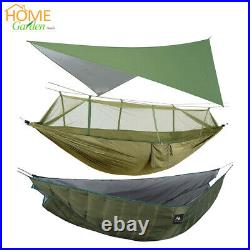 Double Person Hammock with Mosquito Net+Warm Under Quilt Blanket+Rainfly Canopy