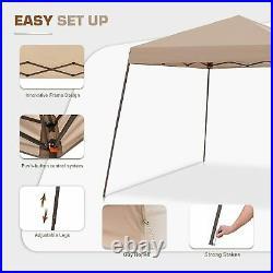 EAGLE PEAK 10' x 10' Slant Leg Easy Setup Pop Up Canopy with Mosquito Netting