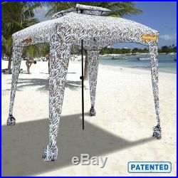 EASYGO CABANA 6X6 Beach Tent Lightweight Portable Comfortable Brown Leaves