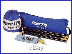 ENO SuperFly Utility Tarp Outdoor Camping Protection Ripstop Nylon Royal/White