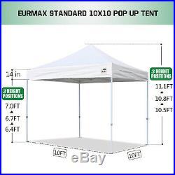 EZ Pop Up Canopy 10' x10' Outdoor Instant Party Wedding Patio Gazebo Tent