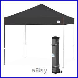 E-Z UP PR3SG10BK 10 x 10-Foot Pyramid Instant Shelter Canopy, Black/Steel Gray