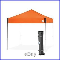 E-Z UP Pyramid Instant Shelter Canopy, 10 by 10ft, Steel Orange-PR3SG10SO NEW