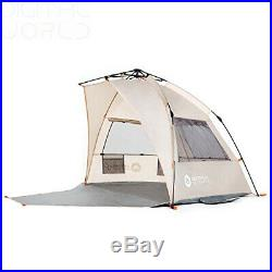Easthills Outdoors Instant Shader Extended Easy Up Beach Tent Sun Beige