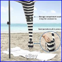 EasyGo Cabana 6' X 6' Beach & Sports Cabana keeps you Cool and Comfortabl