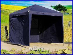 Elegant Gazebo 10' x 10' Garden Canopy/Party Tent Blue+ 3 Walls