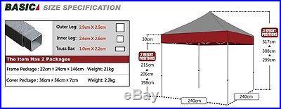 Eurmax 8x8 Digital Custom printed Ez Pop Up Canopy Tent One 8feet Back wall only