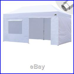 Eurmax Canopy 10x20 Professional Ez Pop Up Marquee Tent with Side Walls&Roller Bag