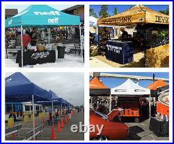 Eurmax Pop Up 10x10 Canopy Full Aluminum Commercial Patio Tent Shelter BLACK