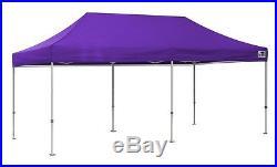 Eurmax Pop Up Canopy 10x20 Ez Pop Up Commercial Canopy Gazebo Shelter Purple
