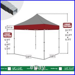 Eurmax Pop Up Canopy No Matter 10x10 Portable Water proof Tent W / N sidewalls