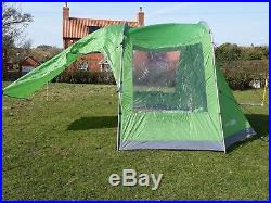 Ex Display Highlander Awning Tent For Linden Family Tent Tunnel Green