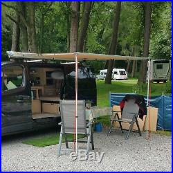 Expedition Pull-out 2mx2m Desert Sand Vehicle Side Awning with Front