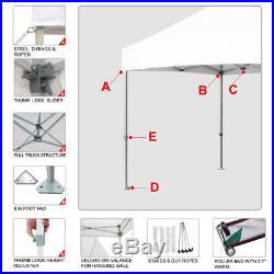 Ez Pop Up Canopy 10x10 Commercial Fair Folding Instant Gazebo Outdoor Party Tent