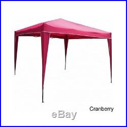 Folding Gazebo Canopy Outdoor Tent Wedding Party Canvas Portable Patio Shade