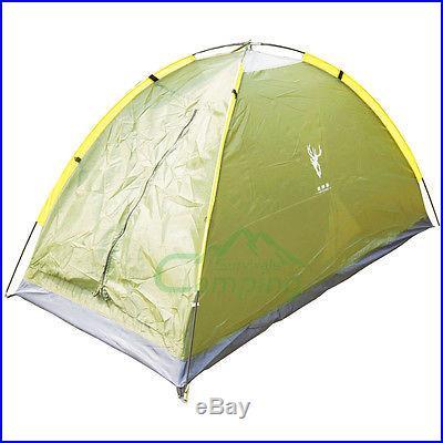 Folding Tent 1 Person Four Seasons Fiberglass Green Outdoor Camping 180T PU2500