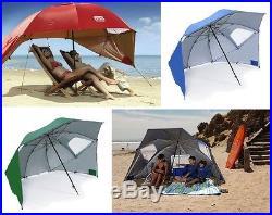 GREEN Sport-Brella Portable Umbrella Beach Sun Shelter Shade Canopy Camp Tent