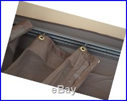 Gazebo Replacement 10' x 10' Universal Mosquito Netting Shade Structure Brown