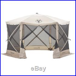 Gazelle 21500 G6 8 Person 6 Sided Portable Camping Canopy Gazebo Screen Tent