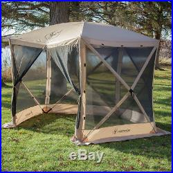 Gazelle 25500 G5 4 Person 5 Sided Portable Camping Canopy Gazebo Screen Tent
