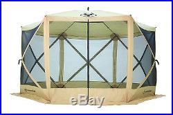 Gazelle 6-Sided Portable Screen House, Tan
