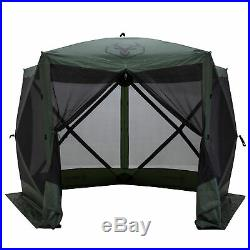 Gazelle GG500GR 4 Person 5 Sided Portable Pop Up Gazebo Screened Tent, Green