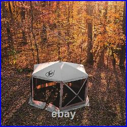 Gazelle GG601DS Pop Up Portable 8 Person Camping Gazebo Day Tent with Mesh Windows