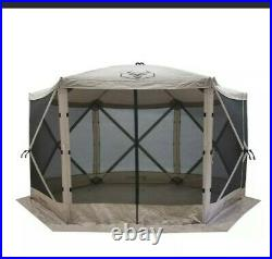 Gazelle Pop Up Portable Camping Gazebo Day Tent with Mesh Windows 12×12 8person