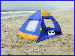 Genji Sports Pop Up Family Beach Tent And Beach Sunshelter, Free Shipping, New