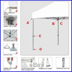Gray 8x8 Ez Pop Up Fair Tent Trade Show Gazebo Shade Tent Camping Canopy Shelter