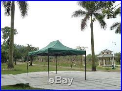 Green 10x15 Instant Canopy Beach Sun Shade Tailgate Shelter Home Backyard Gazebo