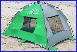Green Outdoor Cabana Beach Tent Umbrella Sun Shelter Camping -with Folding Chairs