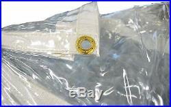 Heavy Duty 20 Mil Vinyl PVC Tarp Cover (Clear)