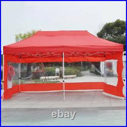 Heavy Duty Canopy Party Outdoor Wedding Tent Gazebo with3 Side Walls Shelter Cover