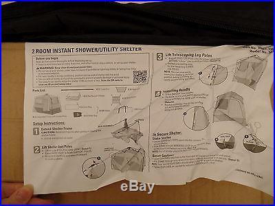Instant 2-Room Shower / Changing Shelter Ozark Trail Travel Portable Shelter BE