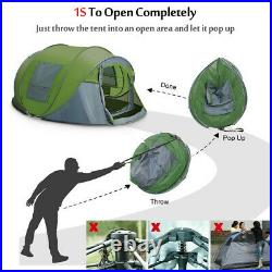 Instant Pop Up Tent 4-6 Person Family Waterproof Backpacking Hiking Camping Tent