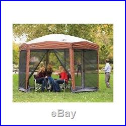 Instant Screed Canopy Gazebo Outdoor Shelter Coleman 12 x 10 Hex Camping Yard