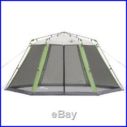 Instant Screen Shelter Tent Camping Foldable Pre-attached Poles + Carry Bag NEW