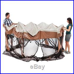 Instant Screened Canopy Gazebo Backyard Camping Tent Patio Shelter 12X10 Coleman