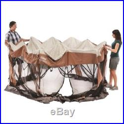 Instant Screened Canopy Gazebo Outdoor Camping Shelter Family 12x10 Hex Tent