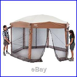 Instant Screened Canopy Shelter Backyard Campsite Outdoor UV Protection Zippered