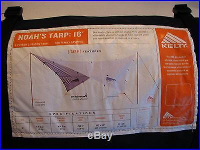 Kelty Noah's Tarp 16' 15.99' x 15.99' Tent Outdoor Shelter Camping