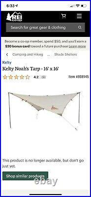 Kelty Noah's Tarp 16 Unav. From Manuf. New witho tags