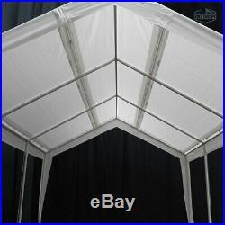 King Canopy 8 Leg Dual Size Expandable Canopy, 12 x 20 & 20 x 20 Feet, White
