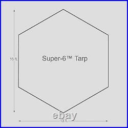 Kodiak Canvas Awning Tarp Cover with Poles Super 6 2061